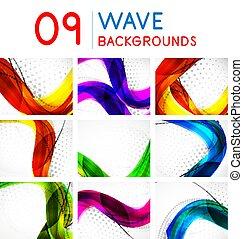 Un conjunto de vectores de ondas abstractas