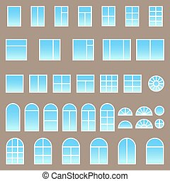 Un conjunto de ventanas diferentes