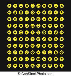 Un conjunto universal de 100 iconos coloridos