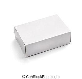 Un contenedor blanco en blanco