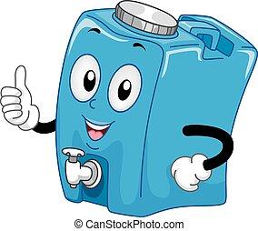Un contenedor de agua Mascota