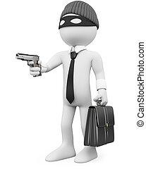 Un criminal con un arma