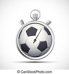 Un cronómetro de Icon con una pelota de fútbol