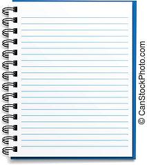 Un cuaderno en blanco