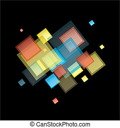 Un cuadrado abstracto arco iris