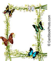 Un cuadro de verano con mariposas