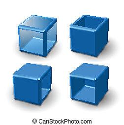 Un cubo de 3d