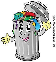Un cubo de basura