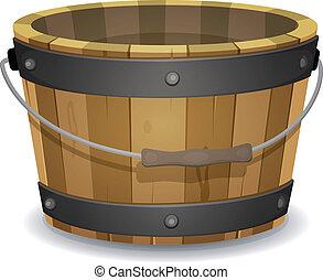 Un cubo de madera de cartón