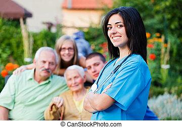 Un cuidador de familia