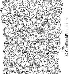 Un curioso patrón de caras de personas