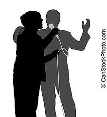 Un dúo de canto senior