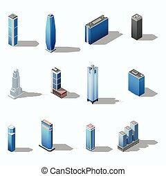 Un decorado de rascacielos moderno