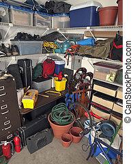 Un depósito de garaje