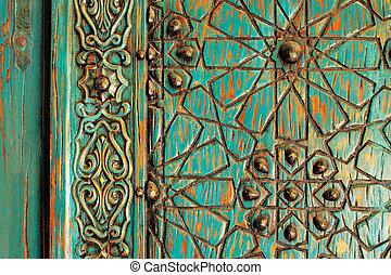 Un detalle de una antigua puerta de Ottoman