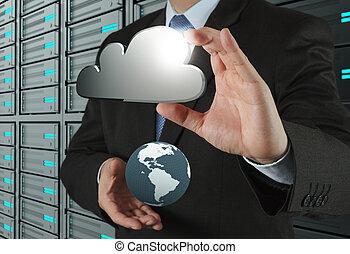 Un diagrama de Cloud en la nueva interfaz de ordenador