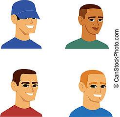 Un dibujo animado de los hombres