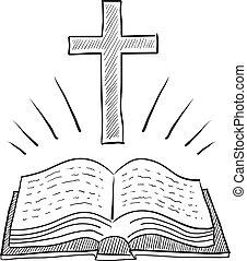 Un dibujo de la Biblia