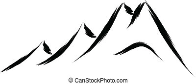 Un dibujo de la montaña