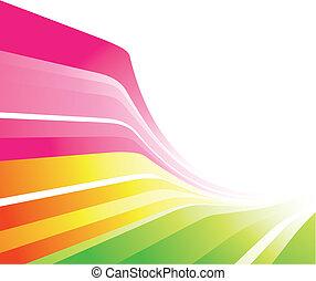 Un diseño colorido