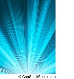 Un diseño de color azul con una explosión. EPS 8