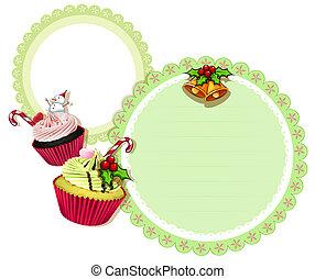 Un diseño de Navidad con pasteles
