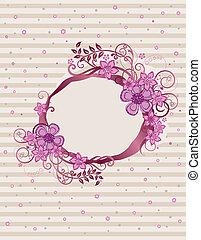 Un diseño floral rosa ovalado