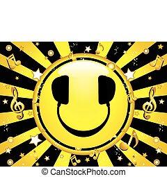 Un DJ sonriente