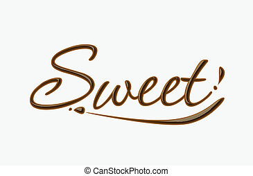 Un dulce texto de chocolate