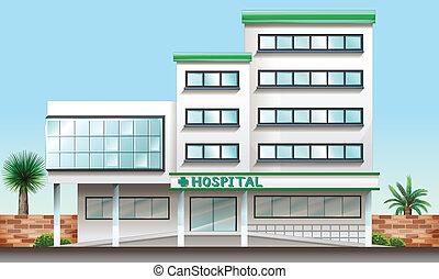 Un edificio de hospital
