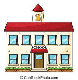 Un edificio escolar