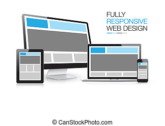 Un electro de diseño web totalmente sensible