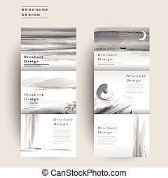 Un elegante folleto de tres páginas
