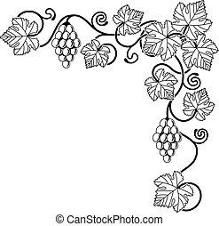 Un elemento de diseño de viñedos