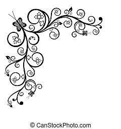 Un elemento de diseño floral