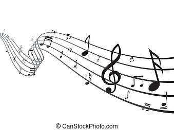 Un elemento de diseño musical