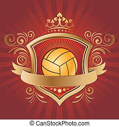Un elemento de diseño para el deporte de voleibol