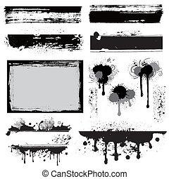 Un elemento de diseño para la tinta grunge
