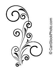 Un elemento floral de decoración
