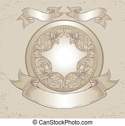 Un emblema con patrones florales