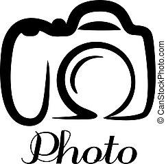 Un emblema de cámara fotográfica