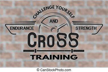 Un emblema de entrenamiento en estilo antiguo.