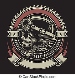 Un emblema de motociclista