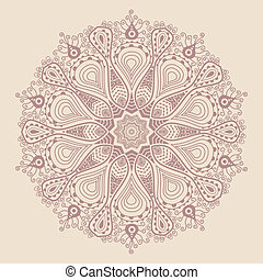 Un encaje redondo ornamental