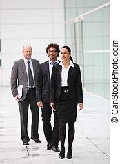 Un equipo de empresarios que se abren camino a su oficina