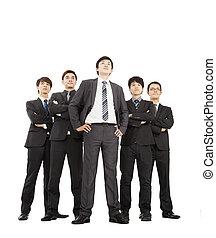 Un equipo de negocios exitoso