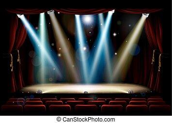 Un escenario de teatro de luces
