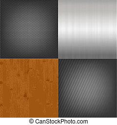 Un escenario de textura de metal y madera