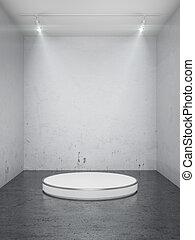 Un escenario vacío en el interior