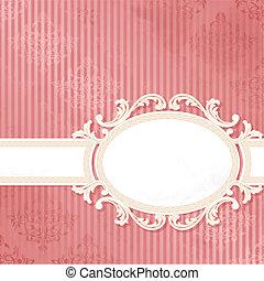 Un estandarte de boda rosa antigüo